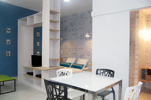 Appartement meubl lyon part dieu flat fish for Location studio meuble brest
